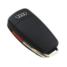"""Ключ выкидной Audi A4 A6 Q7 3+1 кнопки """"банан"""""""