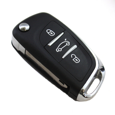 Ключ выкидной Peugeot 3 кнопки VA3L new style под перестановку