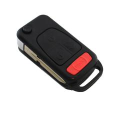 Ключ выкидной Mercedes Benz 3+1 кнопки HU39