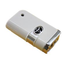 Ключ выкидной Toyota 2 кнопки белый глянец