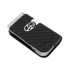Ключ выкидной Toyota 3 кнопки карбон