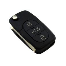 Ключ выкидной Volkswagen 3+1 кругл. кнопки