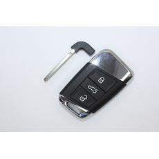 Шкода корпус смарт ключа Kodiaq Rapid Octavia 3 кн. хром skoda