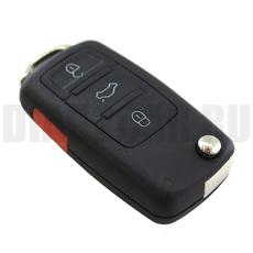Ключ выкидной Audi A8 Америка 3+1 кнопки