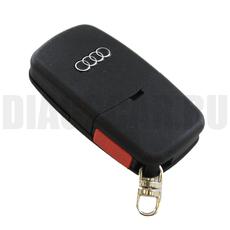 "Ключ выкидной Audi 3+1 кнопки батарейка ""2032"""