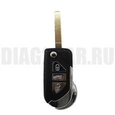 Ключ выкидной Peugeot 3 кнопки HU83