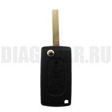 Ключ выкидной Peugeot 3 кнопки с бат