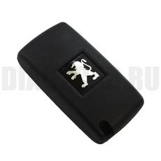 Ключ выкидной Peugeot 3 кнопки свет VA2