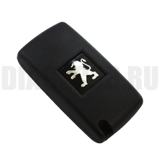 Ключ выкидной Peugeot 2 кнопки с бат