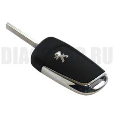 Ключ выкидной Peugeot 3 кнопки VA2 new style