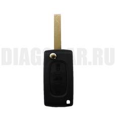 Корпус выкидного ключа Peugeot 3 кн HU83