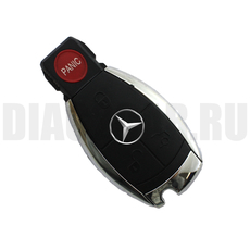 Смарт-ключ Mercedes Benz хром 3+1 кнопки