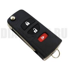 Ключ выкидной Nissan 3 кнопки свет NSN14