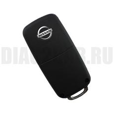 Ключ выкидной Nissan 4 кнопки свет NSN14