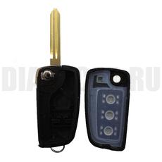 Корпус выкидного ключа Nissan (Ниссан) 2 кн. + паника NSN14