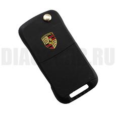 Ключ выкидной Porsche 3 + 1 кнопки
