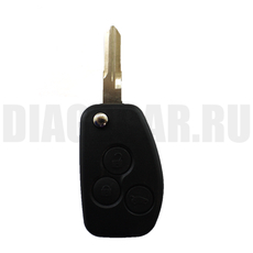 Ключ выкидной Renault Duster Logan Sandero 3 кнопки + логотип