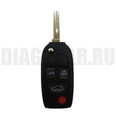 Ключ выкидной Volvo 3+1 кнопки красная