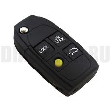 Ключ выкидной Volvo 4 кнопки желтая