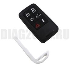 Смарт-ключ Volvo прямоугольный 6 кнопок