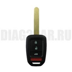 Ключ Honda простой 3 кнопки + паника