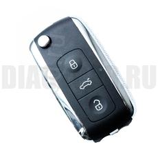 Ключ выкидной Volkswagen 3 кнопки тюнинг