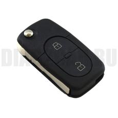 Ключ выкидной Volkswagen 2+1 кругл. кнопки