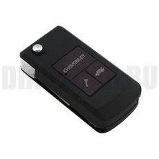 Ключ выкидной Chevrolet 2 кнопки под перестановку DWO4