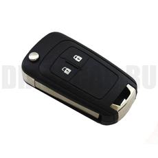 Корпус выкидного ключа Chevrolet Cruze 2 кнопки HU100