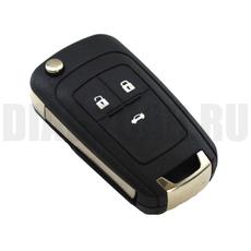 Ключ выкидной Chevrolet Cruze 3 кнопки с ДУ 433 Мгц