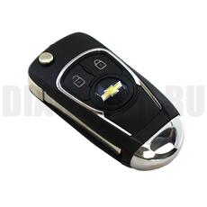 """Ключ выкидной """"Тюнинг"""" Chevrolet Cruze 2 кнопки HU100"""